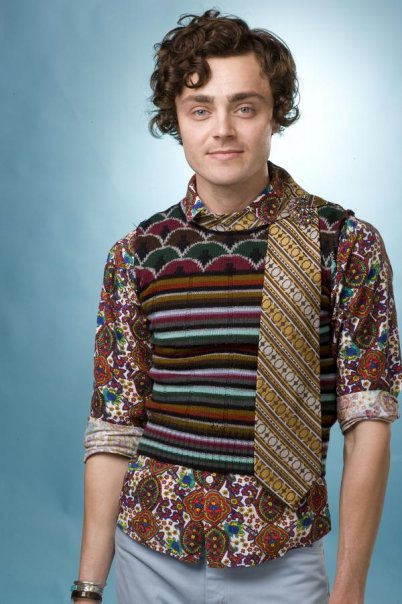 The artist known as Tammie Brown is also the fashion forward Keith Schubert...we admire anyone who is brave enough to mix patterns!
