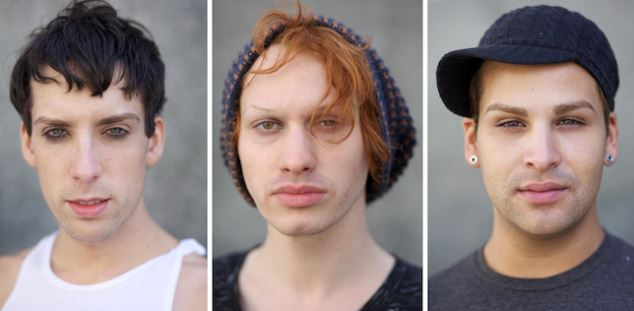 Alaska, Jinkx and Roxxy (really, Justin, Jerick and Michael since they're in boy form) the Final 3 of RuPaul's Drag Race Season 5. Photo: Aaron Young
