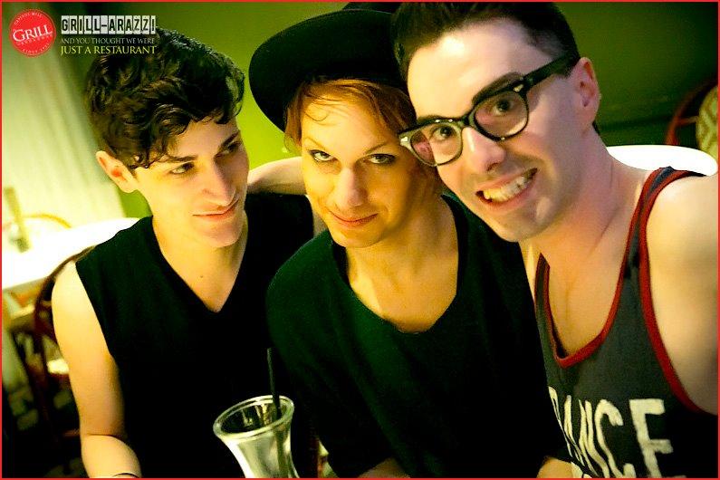 Kenny, Jerick, Robbie at Karaoke. Photo: Tim Harmon