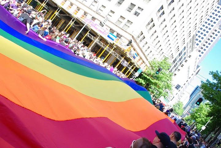 2011 Pride Parade 0122 Rainbow Flag Parade