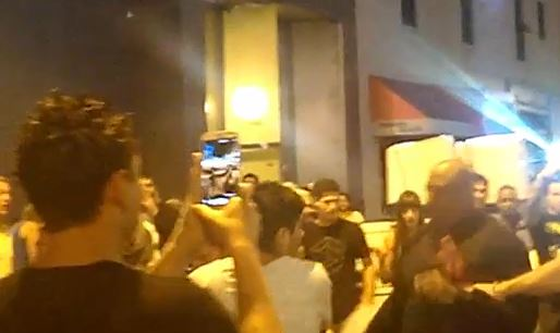 Things got ugly during a street brawl in front of Q Night Club early Sunday morning, August 11.