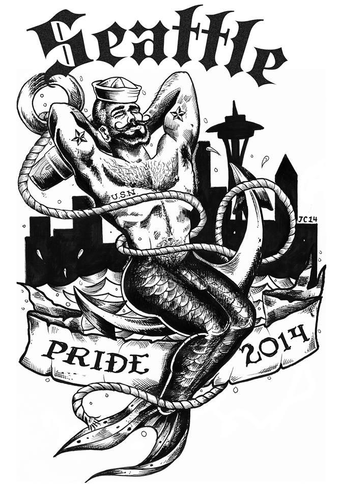 "We j'adore John Criscitello's ""Dickin' of the Sea"" Pride 2014 design!"