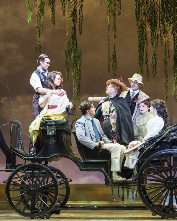 The company of the new musical, A Room with a View at The 5th Avenue Theatre through May 11, 2014. Credit Tracy Martin