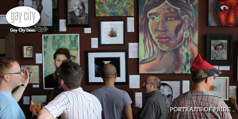 Portraits of Pride is baaaaaack at Gay City/Kalahdi Brothers for Pride month.